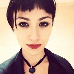 Incredible Girl Brown Hair Piercings Short Hair Septum Piercing My Body And Short Hairstyles For Black Women Fulllsitofus