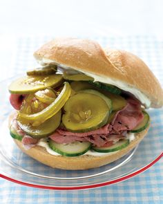 Roast Beef Sandwich with Cukes and Pickles