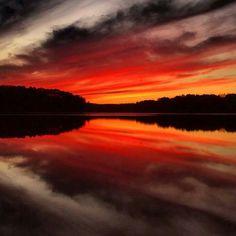 Lake Tuscaloosa sunset jan 29, 2014