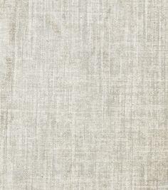 Home Decor Solid Fabric- Robert Allen Alchemy Linen  Platinum