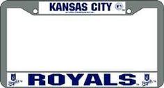 Kansas City Royals License Plate Frame Chrome