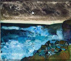 Færøerne, Samuel Joensen-Mikines Faroe Islands, Homeland, Figurative Art, Copenhagen, Paintings, Illustrations, Sea, Landscape, Prints