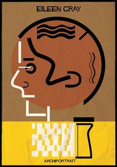 Galeria de A mais recente série de ilustrações de Federico Babina: ARCHIPORTRAIT - 22