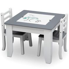 The Delta Children Chelsea Table and Chair Set with Storage provides a multi-functional area for endless hours of fun. Double-sided art surface features a dry erase board that flips into a chalkboard. Compartment for markers, paintbrushes, and more. Wooden Table And Chairs, Toddler Table And Chairs, Kid Table, Table And Chair Sets, Play Table, Bed Bath & Beyond, Playroom Furniture, Kids Furniture, Playroom Ideas