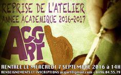 Atelier acg-art : Atelier de dessin et peinture.: Rentrée académique 2016-2017