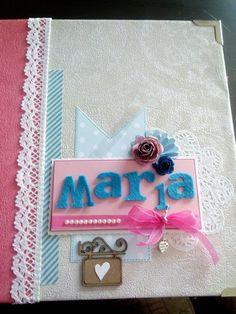 Album scrapbook Maria. Portada