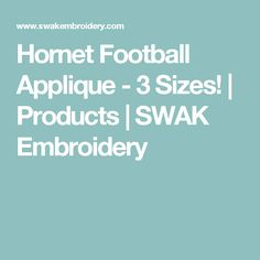 Hornet Football Applique - 3 Sizes! | Products | SWAK Embroidery