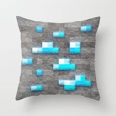 Minecraft Diamond Block Throw Pillow   Check out http://minecraftfamily.com/ for cool new Minecraft stuff!