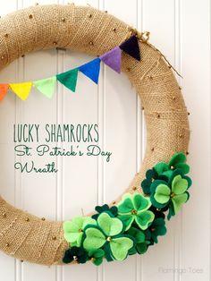 Lucky Shamrocks St Patrick's Day Wreath