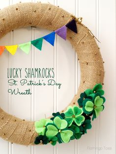 Lucky Shamrocks St Patrick's Day Wreath