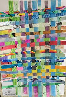 Art Room Blog: Art Club Paper Weaving...