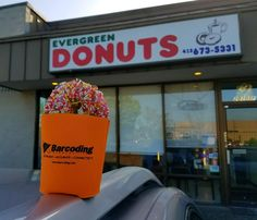 Happy 1 year Versatile Mobile Systems! Happy to share donuts with you in celebration! #barcodingspotted in Washington State!