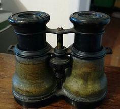 Vintage Military Style Brass Binoculars Steampunk VintageBinoculars VintageMilitaryBinoculars BrassBinoculars