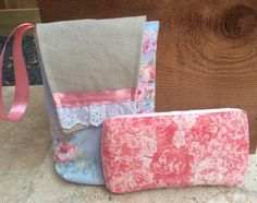 Pink Roses diaper pouch by made4babes on Etsy