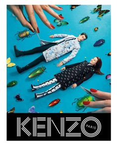 "K""enzo Fall Winter 2013 Campaign"" featuring Rinko Kikuchi and Sean O'Pry"