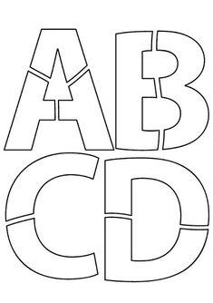 Modelos de letras costuradas           Modelos de letras básicas             Moldes de Letras   As letras abaixo são ótimas para confec...