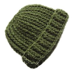 Crochet Baby Hat 0 - 3 months - Moss Green Camo Military - Handmade in Ireland by Amanda Jane