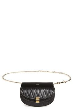 Chloé 'Nano Georgia' Embossed Calfskin Leather Fanny Pack available at #Nordstrom