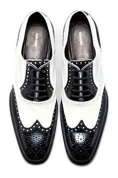Tom Ford black and white shoes for men I love these!!