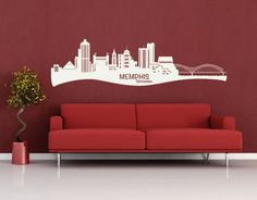 Memphis Skyline wall decal