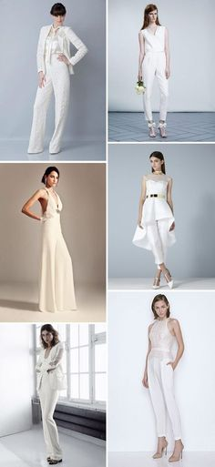 Style Inspiration: Designer Bridal Trouser Suits and Jumpsuits | www.onefabday.com
