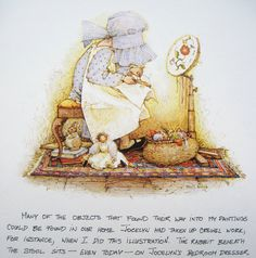 The Art of Holly Hobbie - The book contains lots of beautiful illustrations plus a hand written account by Holly Hobbie describing how the 'little girls with big hats' became popular worldwide and which of her children inspired particular pictures.