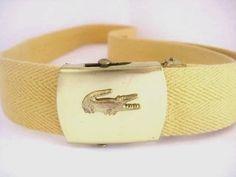 Vintage Canvas Adjustable Belt