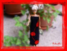 Puppenkleidung - AugustKnaller Abendkleid mit Blüten für Barbie - ein…