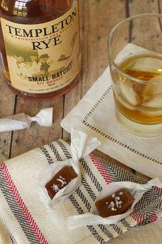 salted burbon caramels via carolina girl cooks