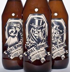 #Beer #Packaging | Skull 'N' Bones by Kimatron Automaton, via Behance PD