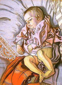 Sleeping Stas, The Artist's Son Stanislaw Wyspianski - 1902