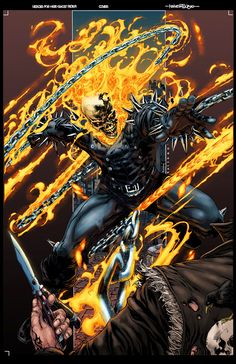 Pencil and ink by Digital color with photoshop Ghost Rider © Marvel Characters. My facebook : Laurent Logicfun My new Website :