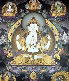 May the visualization of #Avalokitesvara bring relief to the people suffering in the world. Our prayers goes to the victims of the recent #floods in #Nepal #India #Bangladesh and #Texas. Thangka painting realized by Master Buddha...