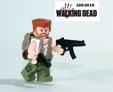 WALKING DEAD ABRAHAM FORD minifigure action figure made with LEGO zombie fighter