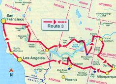 Routenvorschlag klassicher Westen USA