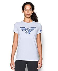 a8d7c4264 Under Armour Women's Alter Ego Retro Wonder Woman Warrior Princess Graphic T -Shirt X-Small White