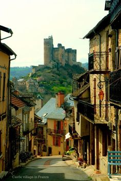Castle village in France