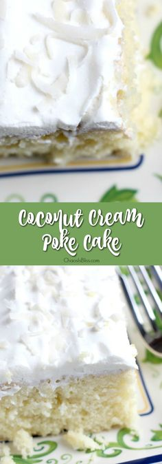 Light, moist and easy to make, this Coconut Cake poke cake recipe will be a favorite twist on a box cake mix recipe you'll savor all through the year! #coconut #cake #dessert