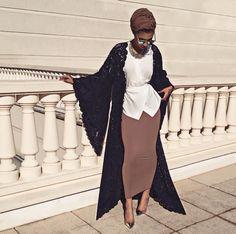 This outfit is amazing, but it's that skirt that's like whoaaaa Turban Mode, Hijab Turban Style, Hijab Chic, Abaya Fashion, Muslim Fashion, Modest Fashion, Fashion Outfits, Modern Hijab Fashion, Modest Wear