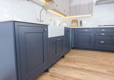 Our 1909 In-Frame Shaker door gives a distinctly timeless look, as seen here in Charcoal and Cashmere. Give us a call on 01992 666150 and let us design the kitchen of your dreams. German Kitchen, New Kitchen, Bespoke Kitchens, Kitchen Inspiration, Kitchen Accessories, Simply Beautiful, Kitchen Design, Charcoal, Cashmere