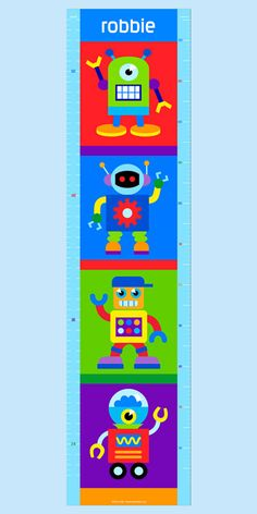 Robot Personalized Peel & Stick Growth Chart