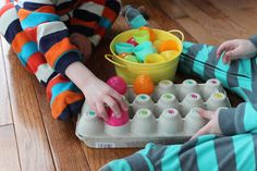 Easter Egg Color Matching & Stacking Activity for Preschoolers Easter Activities For Preschool, Sorting Activities, Toddler Preschool, Preschool Activities, Plastic Eggs, Spring Theme, Coloring Easter Eggs, Easter Colors, Home Learning