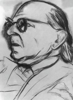 Kitaj Drawings   RB Kitaj. Isaiah Berlin , 1991-92. Charcoal on canvas, 50.5 x 45.5 cm ...