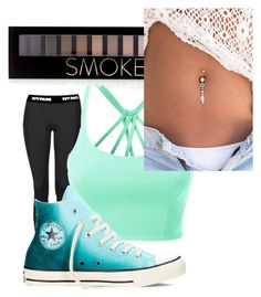 """cute"" by trinityaustin715 on Polyvore featuring Topshop, LE3NO, Converse and Forever 21"
