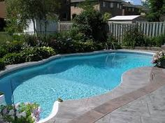 Are you looking for ways to transform your backyard? What better way than installing a pool? Check out our amazing backyard swimming pool designs to get inspired and get started with us today. Backyard Pool Landscaping, Backyard Pool Designs, Small Backyard Design, Small Backyard Pools, Outdoor Pool, Landscaping Ideas, Backyard Ideas, Small Backyards, Acreage Landscaping