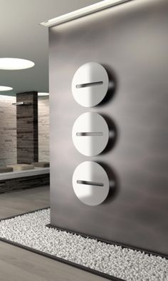 Design wall-mounted towel warmer Sfere by Cordivari Contemporary Radiators, Contemporary Bathrooms, Contemporary Interior, Modern Radiators, Minimalist Furniture, Modern Minimalist, Towel Heater, Fireplace Heater, Armani Hotel