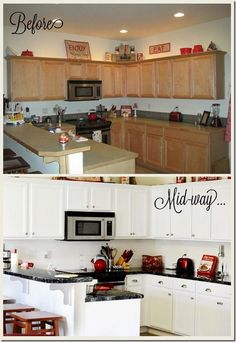Lovely Kitchen Makeover Painting Cabinets