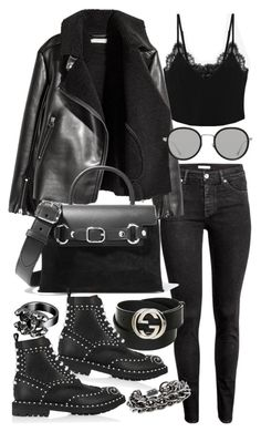 """""""Untitled #20567"""" by florencia95 ❤ liked on Polyvore featuring Alexander McQueen, Alexander Wang, Chanel, Gucci, Givenchy, Linda Farrow and Burberry"""