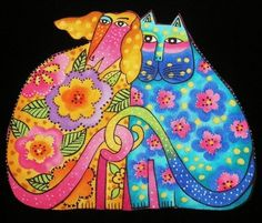 LAUREL BURCH CATS DOGS Canines Felines Kindred by anniesporch