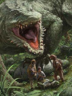 Alien Creatures, Magical Creatures, Fantasy Creatures, Fantasy Forest, Dark Fantasy Art, Creature Feature, Creature Design, Aliens, Swamp Creature
